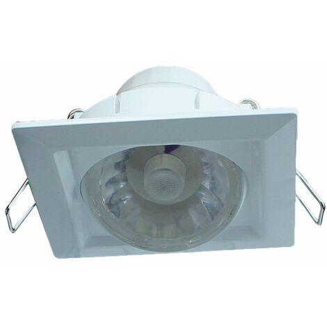 Foco LED Cuadrado orientable luz fría (8W)