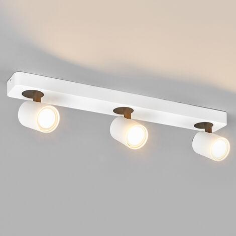 Foco LED de 3 luces Sean blanco