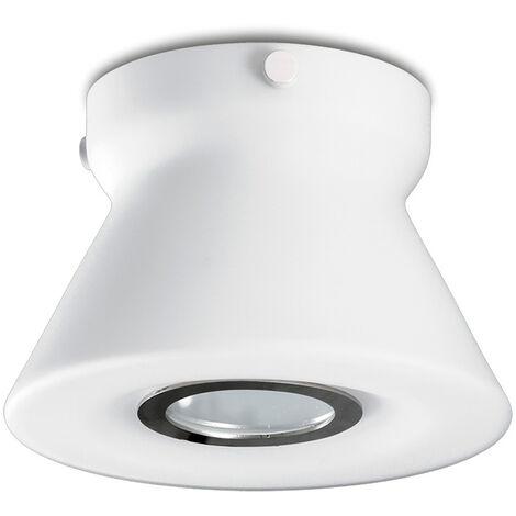 Foco LED de cristal opal/cromo 50W Smart