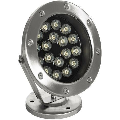 Foco LED de Superficie 12V 18W Sumergible IP68 Blanco Neutro 4000K - Blanco Neutro 4000K