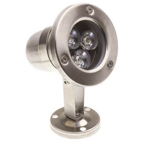 Foco LED de Superficie Inox 12V 3W