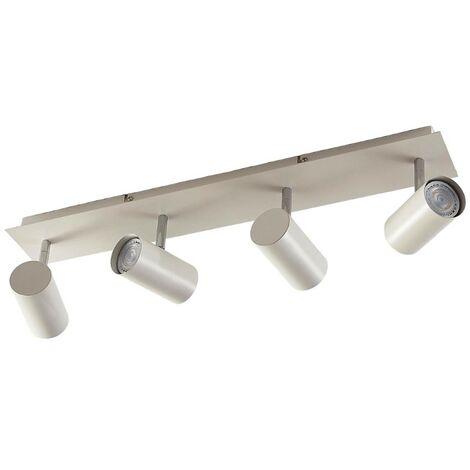 Foco LED de techo Iluk con acabado blanco 4 brazos