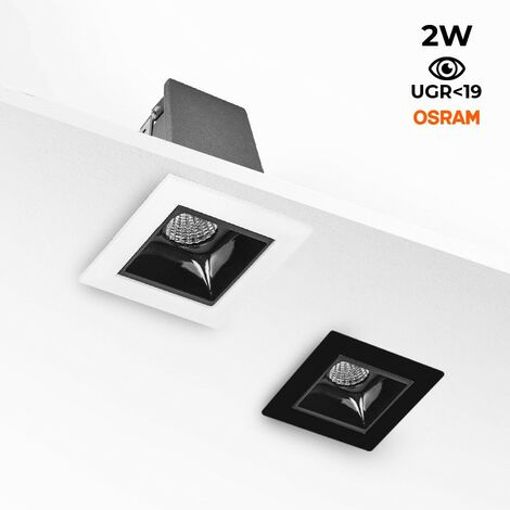 Foco LED Downlight Lineal Empotrable 2W CHIP OSRAM