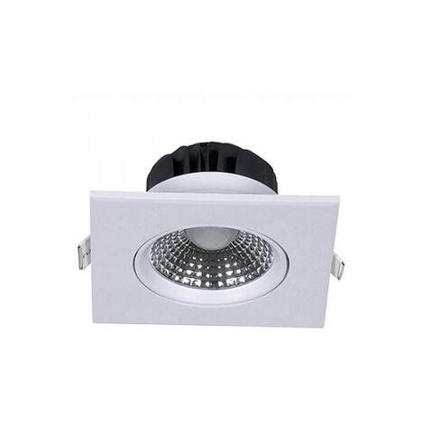 Foco LED empotrable 5W 3000K° cuadrado ajustable