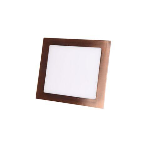 Foco led empotrable cobre cuadrado 6W 6000K luz blanca