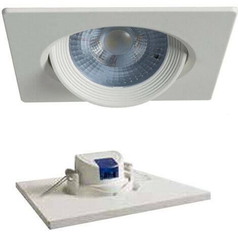 Foco LED empotrable cuadrado Duralamp 7W 3000K 40° Blanco D307QWW