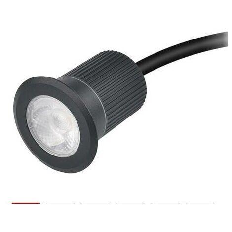 Foco LED empotrable en suelo 10W 12V-DC IP67 Blanco Cálido 3000K | Blanco Cálido