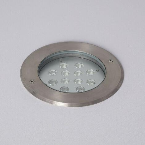 Foco LED Empotrable en Suelo 12W IP67 Blanco Cálido 3000K . - Blanco Cálido 3000K