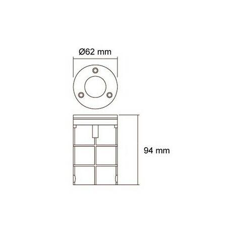 Foco LED Empotrable en Suelo 3W IP67 Blanco Cálido 3000K . - Blanco Cálido 3000K