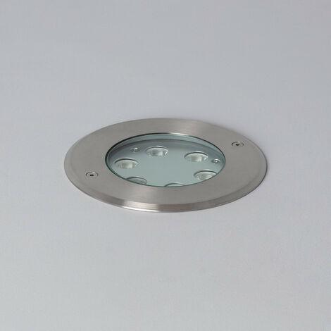 Foco LED Empotrable en Suelo 6W IP67 Blanco Cálido 3000K . - Blanco Cálido 3000K