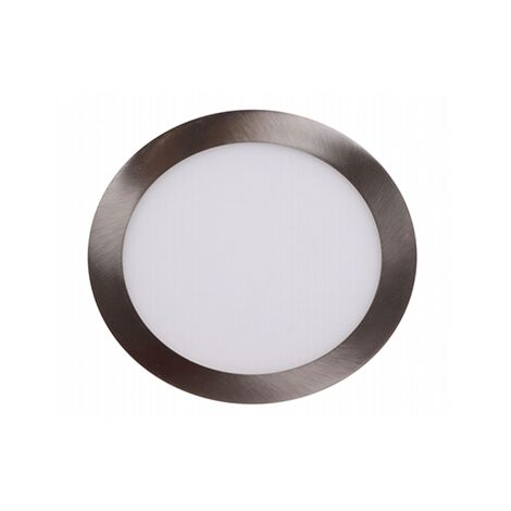 "main image of ""Foco led empotrable en techo 12W redondo Níquel 6000K luz blanca"""