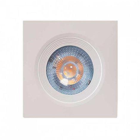 Foco LED Empotrable Orientable Cuadrado 7W 560lm Ø7cm Blanco 7hSevenOn