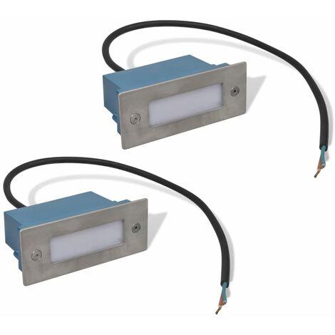 Foco LED empotrable para escaleras 44 x 111 x 56 mm - Argento