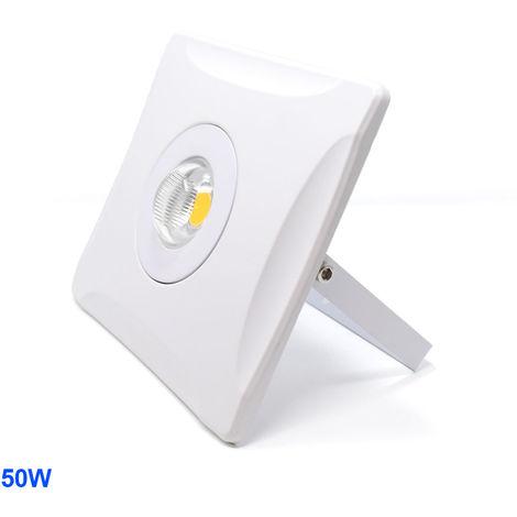 Foco LED Exterior de diseño HARMONY Blanco 50W 3000K Blanco Cálido