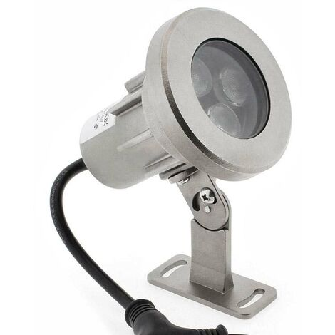 Foco LED Exterior GARLUX, DC12/24V, 24W, DMX512, RGBW, IP68, RGB + Blanco neutro, regulable