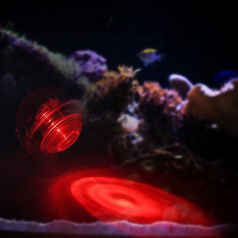 Foco LED impermeable para acuarios, luz sumergible, diseno de lente convexa, con ventosa,Amarillo