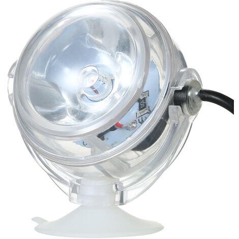 Foco LED impermeable para acuarios, luz sumergible, diseno de lente convexa, con ventosa,Azul