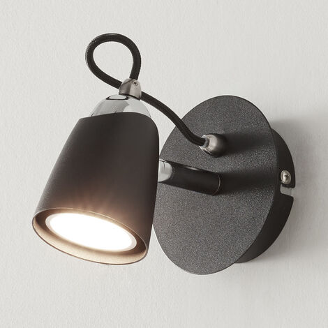 Foco LED Marko de color negro, regulable