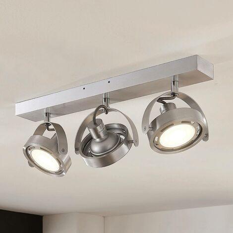 Foco LED Munin, atenuable, aluminio, 3 luces