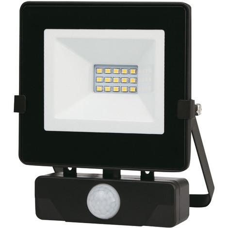 "main image of ""Foco Led Negro Ip65 Con Sensor 10 W - - Pt1679.."""