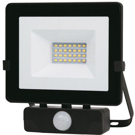 "main image of ""Foco Led Negro Ip65 Con Sensor 20 W - - Pt1681.."""