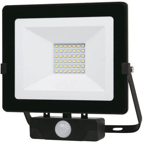 "main image of ""Foco Led Negro Ip65 Con Sensor 30 W - - Pt1683.."""