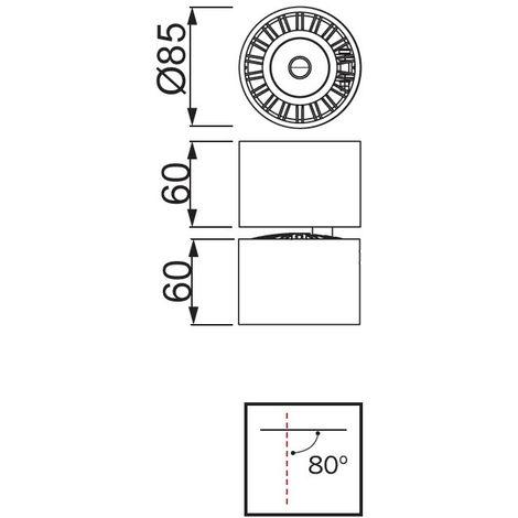 Foco LED orientable Columbretes (12W)