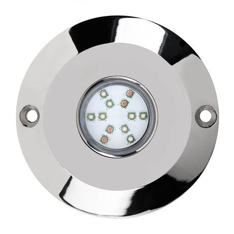 Foco LED Premium Acero316L 4 Hilos RGB, Compatible Con Teléfonos Inteligentes.