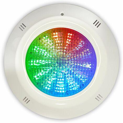 Foco LED RGB 35W 12V DC con cable de 4 hilos de superficie para piscina Gama Basic
