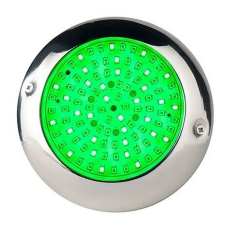 Foco LED RGB con cable de 4 hilos 15W para piscina Ø15cm en acero inoxidable marino AISI316L