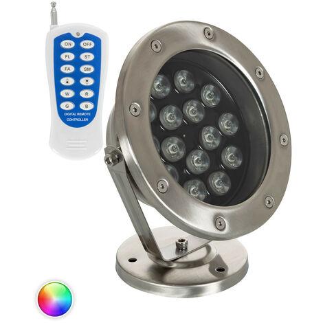 Foco LED RGB de Superficie 24V DC 15W Sumergible IP68 RGB - RGB