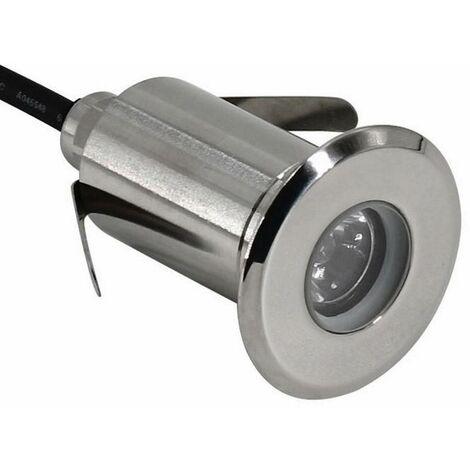 Foco LED RGB empotrable en suelo 3W 12V-DC IP67 | RGB