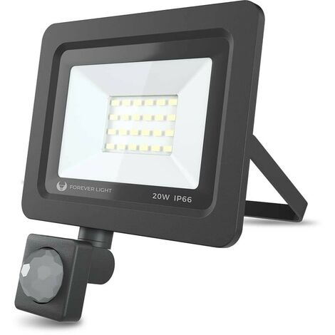 Foco LED SMD Proxim 20W Con sensor 6000K IP65