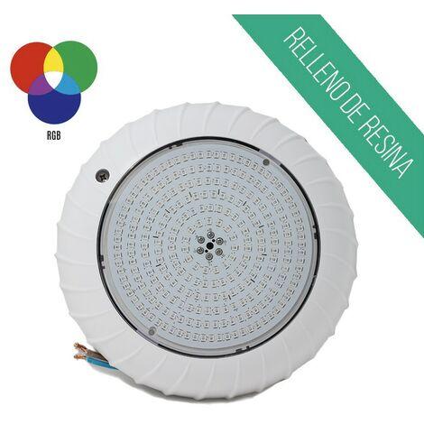 Foco led superficie relleno de resina 25W luz RGB para piscina COMPACT