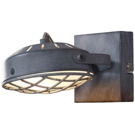 Foco LED Tamin en gris ahumado, estilo industrial