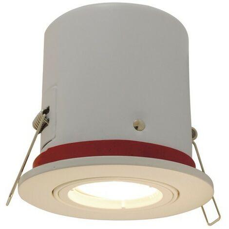 Foco orientable blanco BBC con spot LED GU10 350 Lm
