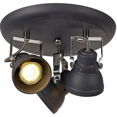 Foco orientable Iva 3 bombillas gris mate 15 Cm