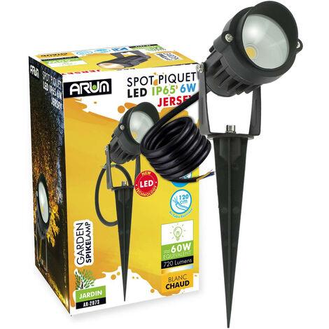 Foco Piquete LED JERSEY para jardín 6W Negro   Temperatura de color: Blanco cálido 2700K