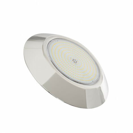 Foco Piscina LED Superficie 3000K 12V AC/DC Acero Inoxidable 24W Blanco Cálido 3000K