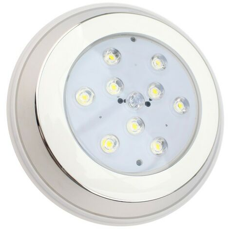 Foco Piscina LED Superficie Inox 12V AC/DC 9W