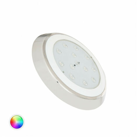 Foco Piscina LED Superficie Inox RGBW 12V DC 24W