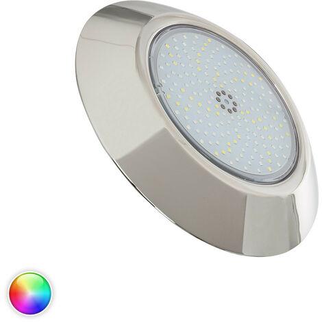 Foco Piscina LED Superficie Inox RGBW 12V DC IP68 12W RGBW
