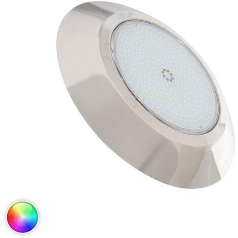 Foco Piscina LED Superficie Inox RGBW 12V DC IP68 24W RGBW