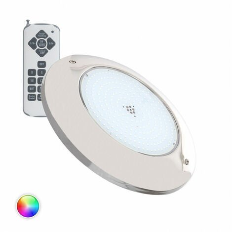 Foco Piscina LED Superficie RGB 12V AC Acero Inoxidable 20W RGB