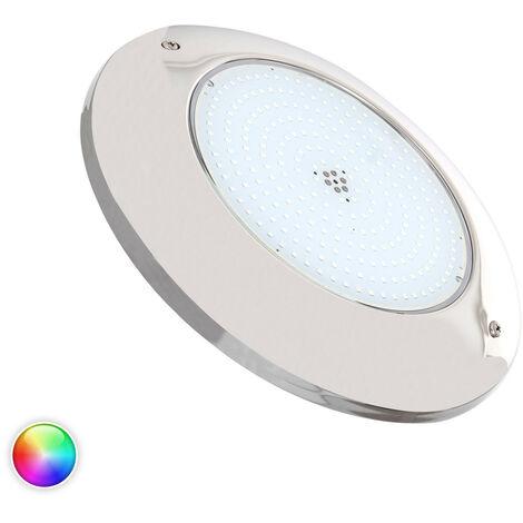 Foco Piscina LED Superficie RGB 12V AC Acero Inoxidable 20W RGB - RGB