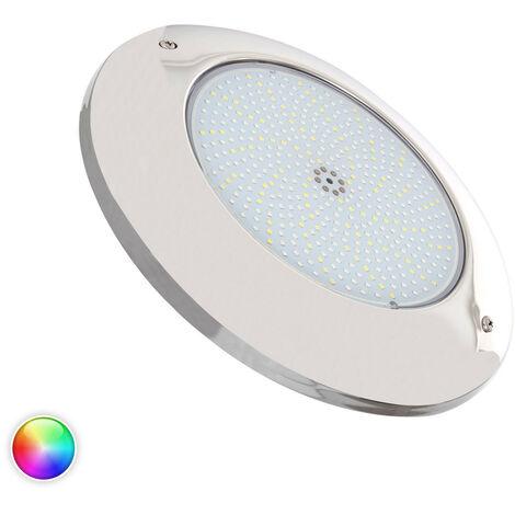 Foco Piscina LED Superficie RGBW 12V DC Acero Inoxidable 35W RGBW - RGBW