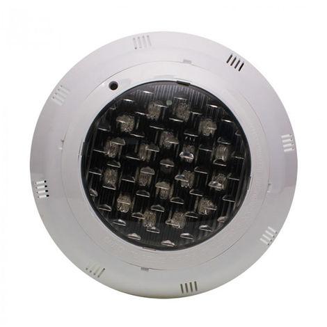 Foco piscina rgbw 24w 12vac ip68 + transformador + pulsador