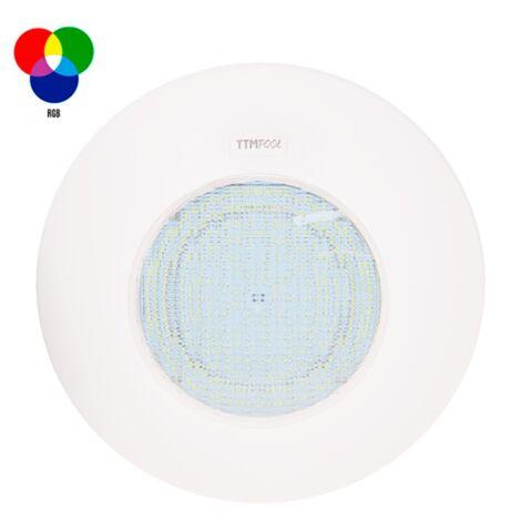 Foco piscina superficie 'SLIMPLUS' 25W RGB, Ø290x50mm.