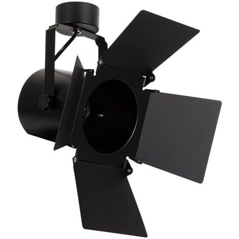 Foco Portalámparas de Superficie Cinema para bombillas E27 Casquillo Gordo PAR30 Negro - Negro