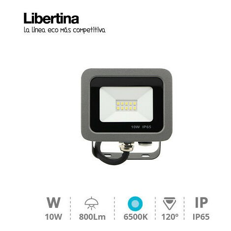 Foco Proyector Led 10w 6500k 800lm Ip65 Gris 202600000